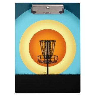 Colorful Disc Golf Basket Clipboard