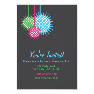 Colorful Disco Ball Party Card