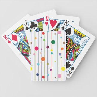 Colorful Disco Circle Pattern Poker Deck