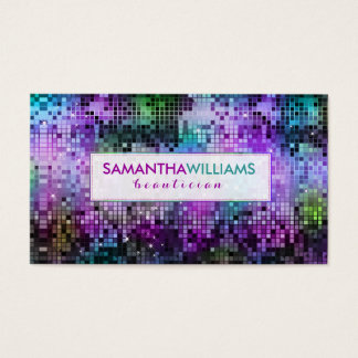 Colorful Disco Glitter Beautician Card