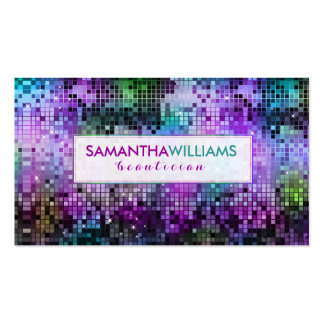 Colorful Disco Glitter Beautician Card Pack Of Standard Business Cards