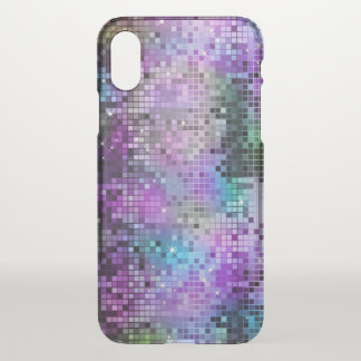 Colorful Disco Glitter Geometric Design iPhone X Case