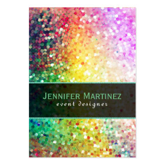 Colorful Disco Glitter & Sparkles Yellow Overtones Pack Of Chubby Business Cards