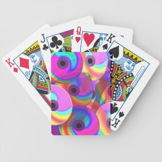 Colorful Disks Bicycle Poker Cards