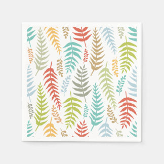 Colorful Ditsy  Floral Background | Napkin Paper Napkin