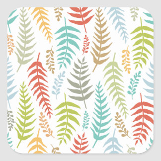 Colorful Ditsy  Floral Background Sticker Seal