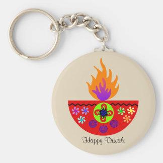 Colorful Diwali Lamp Diya Key Ring