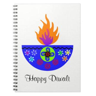 Colorful Diwali Lamp Diya Notebooks