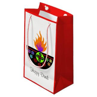Colorful Diwali Lamp Diya Small Gift Bag