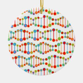 Colorful DNA structure pattern Ceramic Ornament