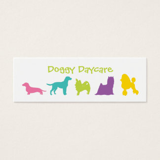 Colorful Dog Daycare or Spa Mini Business Card