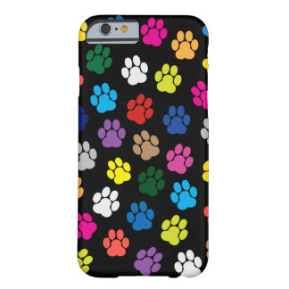 Colorful Dog Paws iPhone 6 case Barely There iPhone 6 Case