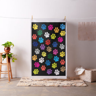 Colorful Dog Paws Puppy Paws Puppies Paws Pet Paws Fabric