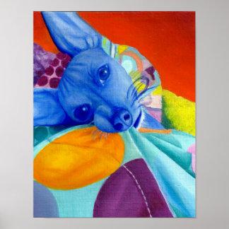 Colorful Dog Portrait Poster