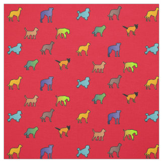 Colorful Dogs Fabric
