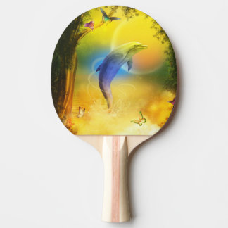 Colorful Dolphin Ping Pong Paddle