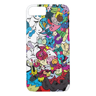 Colorful doodle art Case-Mate Barely There iPhone iPhone 7 Case
