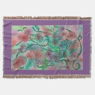 Colorful Doodle Art Throw Blanket