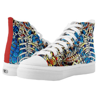 COLORFUL DOODLES HIGH TOPS
