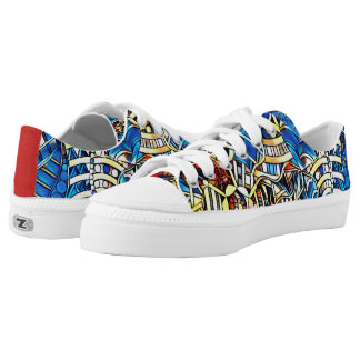 COLORFUL DOODLES LOW TOPS
