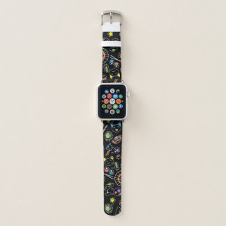 Colorful Doodles of Japan Kawaii Culture Icons Apple Watch Band