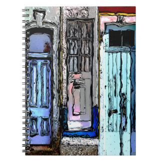 Colorful Doors Collage Spiral Notebook
