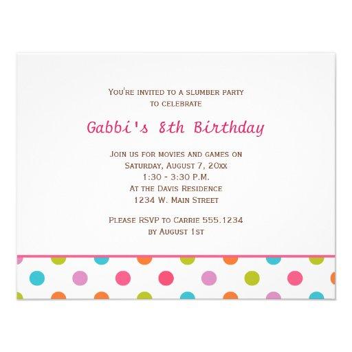Colorful Dots Birthday Invitations