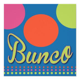 Colorful Dots Bunco Dice Game Invitation