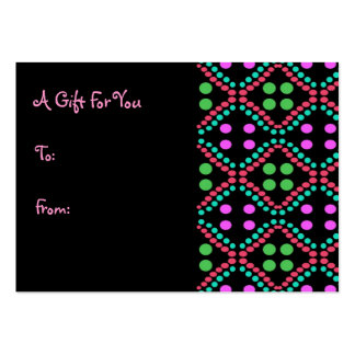 Colorful Dots Gift Tags Pack Of Chubby Business Cards
