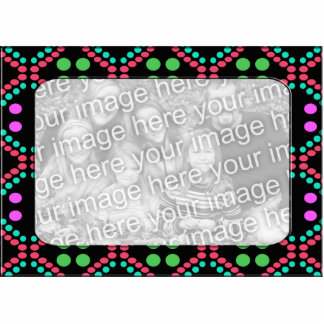 colorful dots photo frame cut out