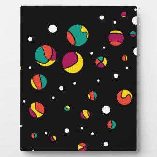 Colorful dots photo plaque