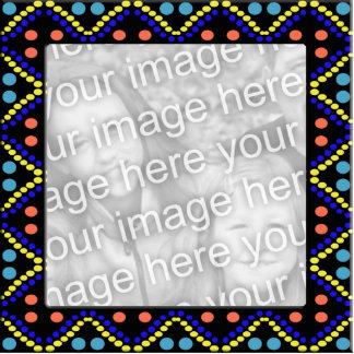 colorful dots photoframe photo cutouts