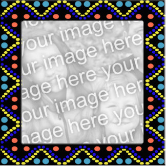 colorful dots photoframe standing photo sculpture