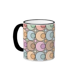 Colorful Dots Ringer Mug