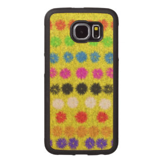 Colorful Dots Wood Phone Case