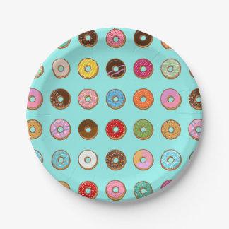 Colorful Doughnuts Paper Plate