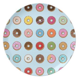 Colorful Doughnuts Plate