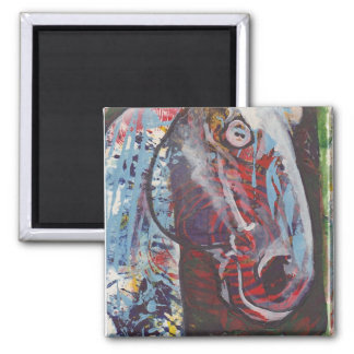 Colorful Draft horse Magnet