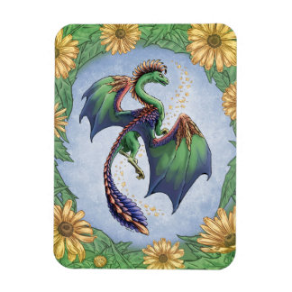 Colorful Dragon of Summer Nature Fantasy Art Magnet
