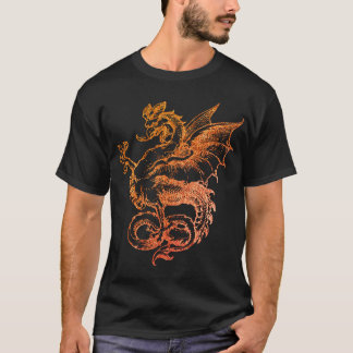 colorful Dragon Red Illustration Men T-Shirt