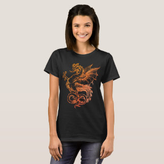 colorful Dragon Red Illustration Women T-Shirt