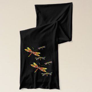colorful dragonflies scarf