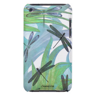 Colorful Dragonfly Abstract Custom Barely There iPod Cases