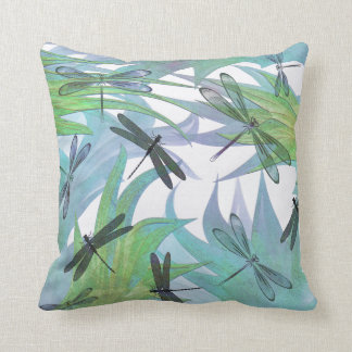 Colorful Dragonfly Abstract Decorator Pillow Cushions