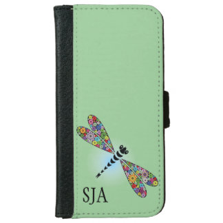 Colorful Dragonfly Design iPhone Wallet