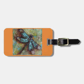 Colorful Dragonfly Luggage Tag