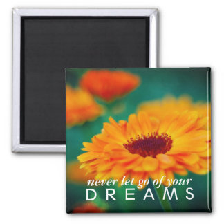 "Colorful ""Dreams"" Wildflower Inspirational Magnet"