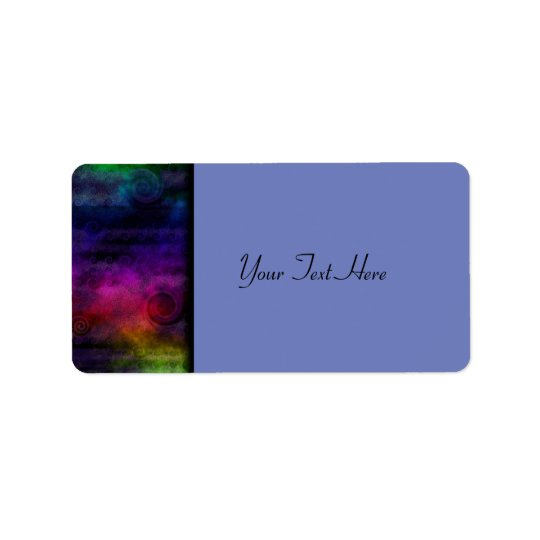 Colorful Dreamy Abstract Address Label