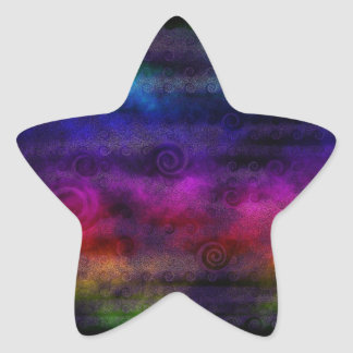 Colorful Dreamy Abstract Star Sticker
