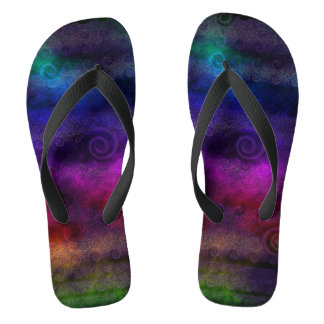 Colorful Dreamy Abstract Thongs